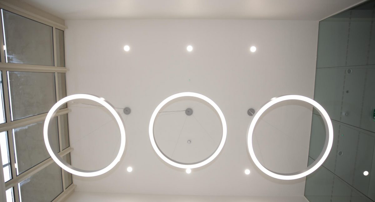 Rowley reception lighting