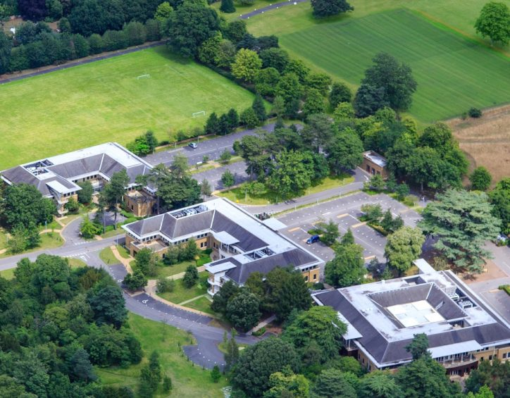 Photo of Rowley building from above